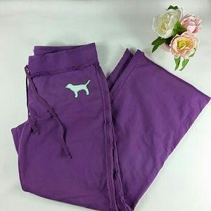Victoria's Secret Pink wide leg purple sweatpants